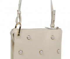 7146-white Кросс-боди сумка кожаная